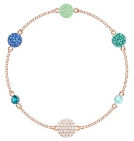 Swarovski Remix: Strand POP, Green, Rose Gold Plated (M)