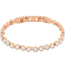 Swarovski Tennis Bracelet, White, Rose Gold Plated