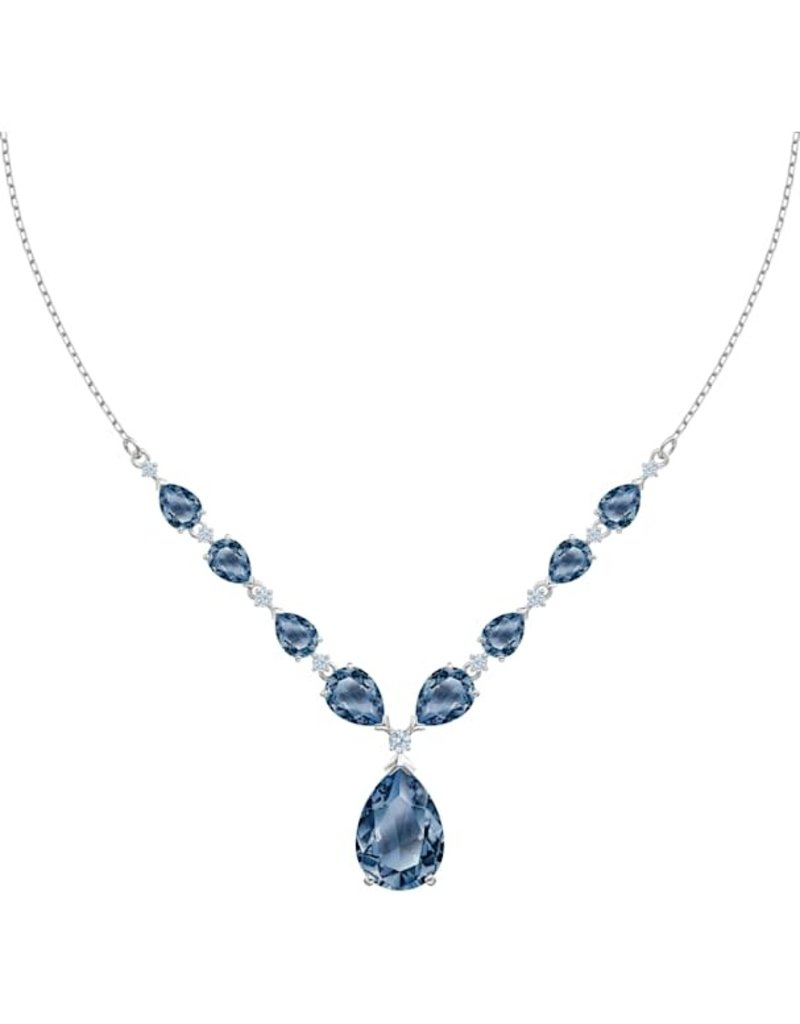 Swarovski Vintage Necklace, Blue, Rhodium Plated