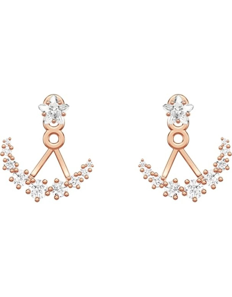 Swarovski Penelope Cruz Moonsun Pierced Earring Jackets, White, Rose Gold Plated