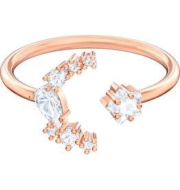 Swarovski Penelope Cruz Moonsun Open Ring, White, Rose Gold Plated 58 (US 8)