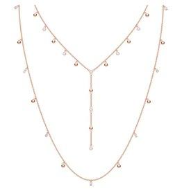 Swarovski Penelope Cruz Moonsun Necklace, Long, White, Rose Gold Plated