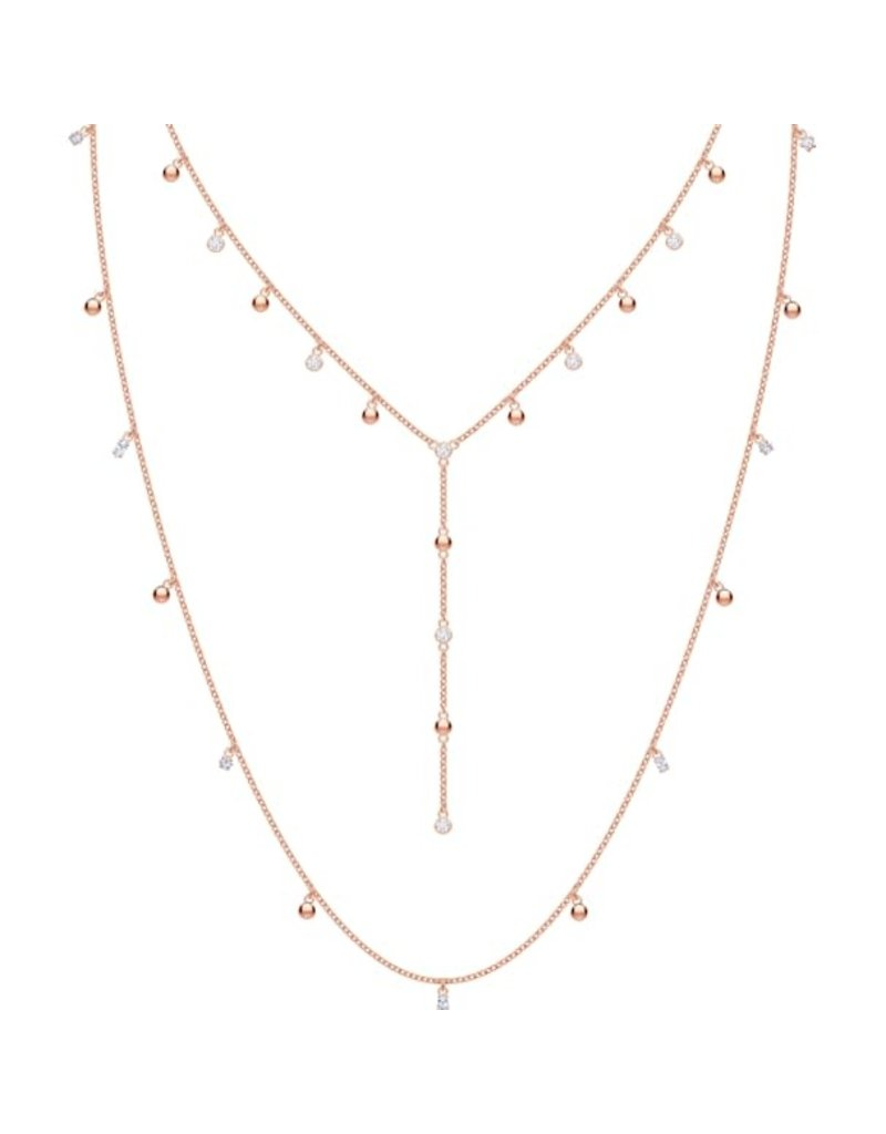 Swarovski Penelope Cruz Moonsun Necklace, Long, White, Rose Gold Plated