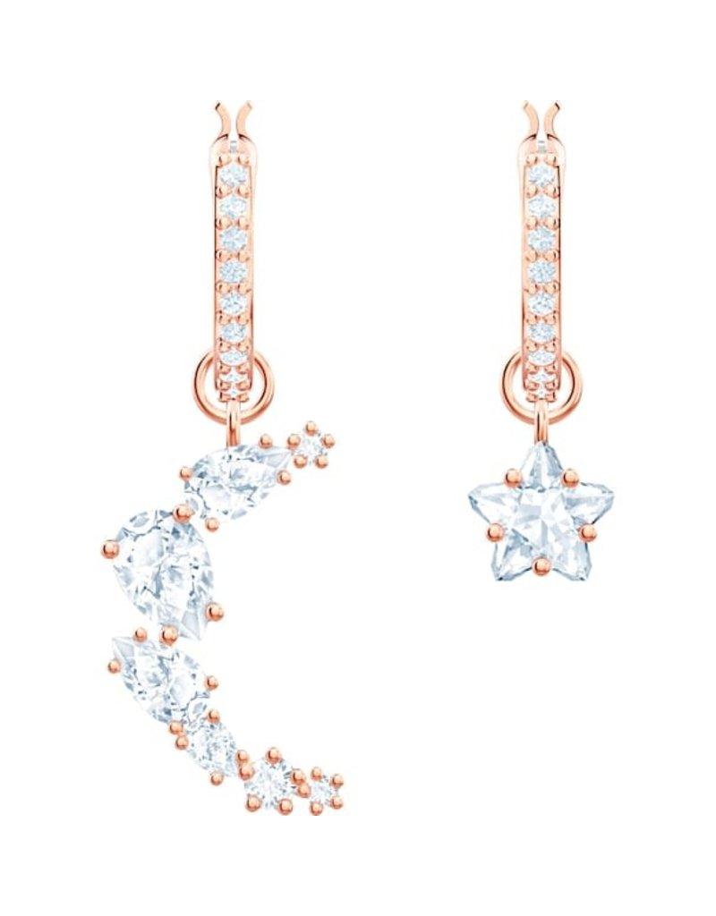 Swarovski Penelope Cruz Moonsun Drop Pierced Earrings, White, Rose Gold Plated