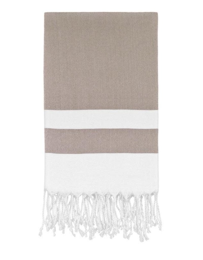 Olive and Loom Bianca Beach Peshtemal Towel - Brown