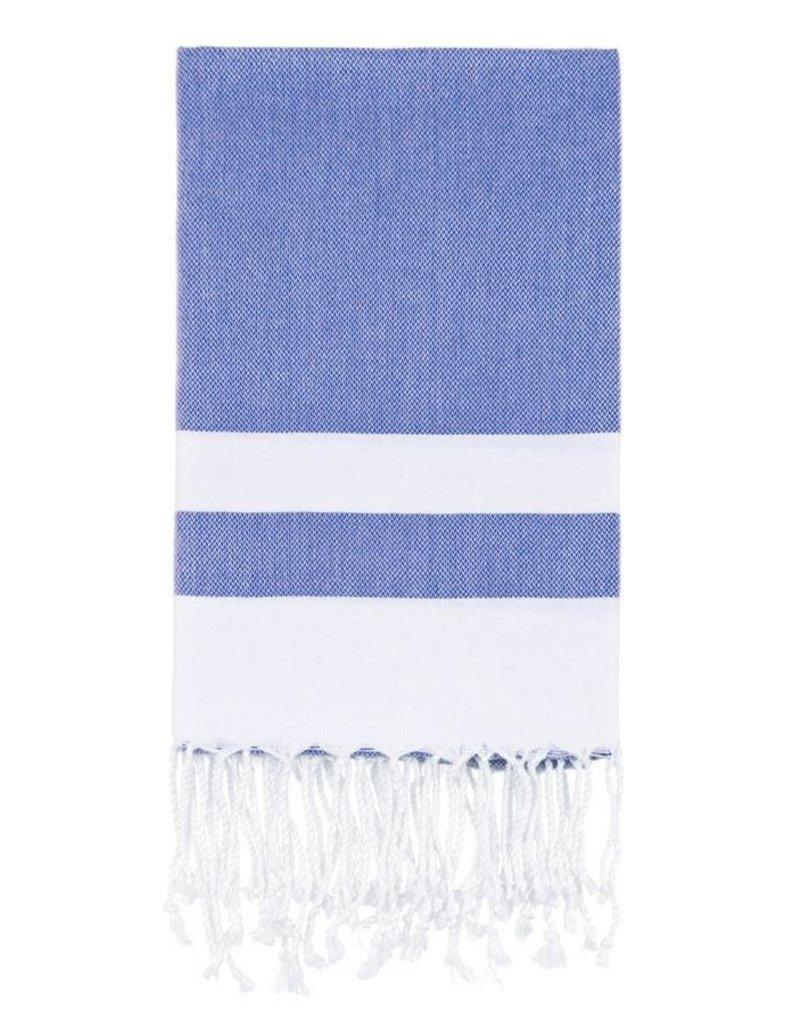 Olive and Loom Bianca Beach Peshtemal Towel - Navy