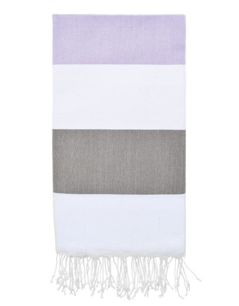 Olive and Loom Doria Beach Towel - Lavender and Olive