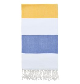 Olive and Loom Doria Beach Towel - Yellow and Navy