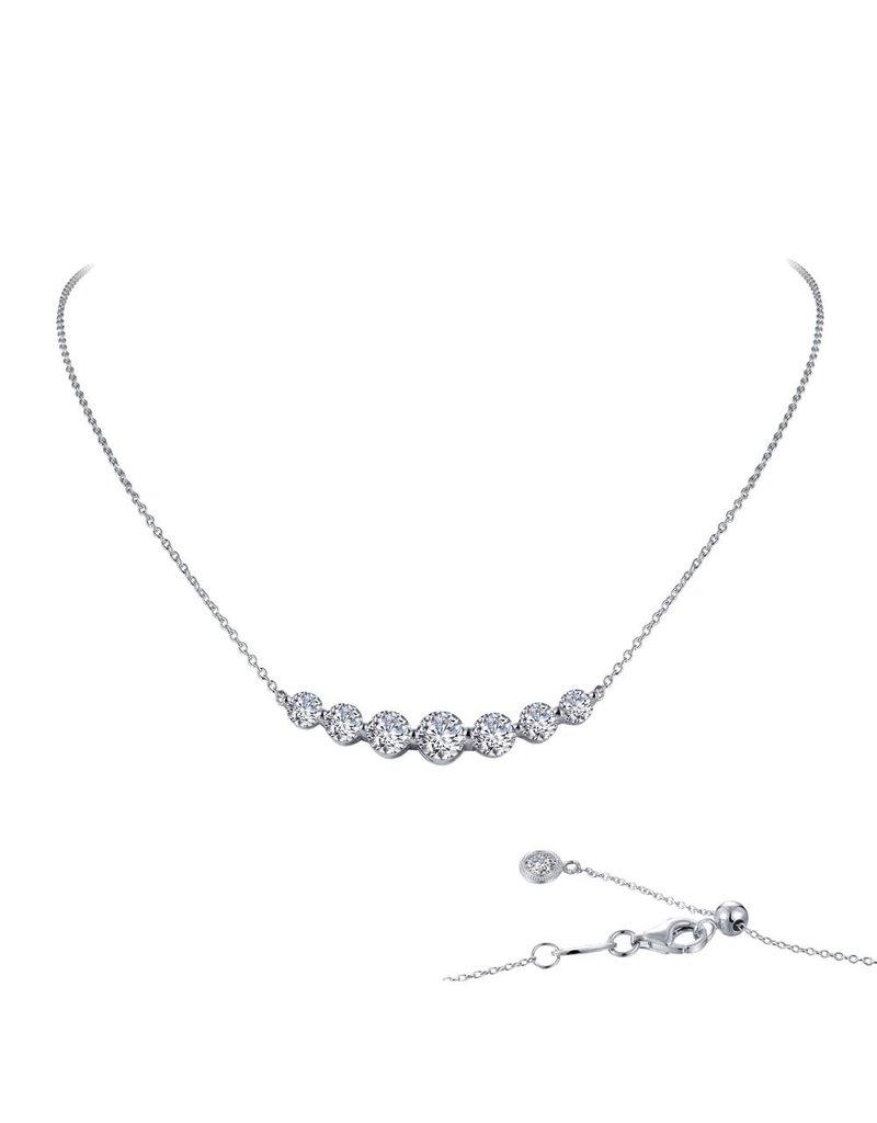 Lafonn 7 Symbol of Joy Bar 18'' Necklace, 2.02 Cttw
