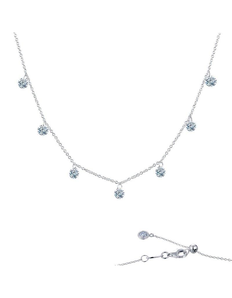 Lafonn Lassaire In Motion Raindrop Necklace with 14K Gold Componants, 17'' 1.75 CTTW