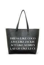 Tote Bag- Dress Like Coco- Vegan Leather Tote
