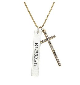 KIS Tokens Necklace, Cross - Blessed