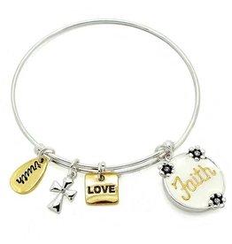 KIS Symbology Bracelet, white epoxy, Faith