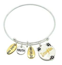 KIS Symbology Bracelet, white epoxy, daughter