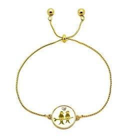 KIS Mirabella Bracelet, Love Birds GOLD