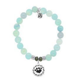 Tiffany Jazelle Core Collection, Aqua Agate, Paw Print