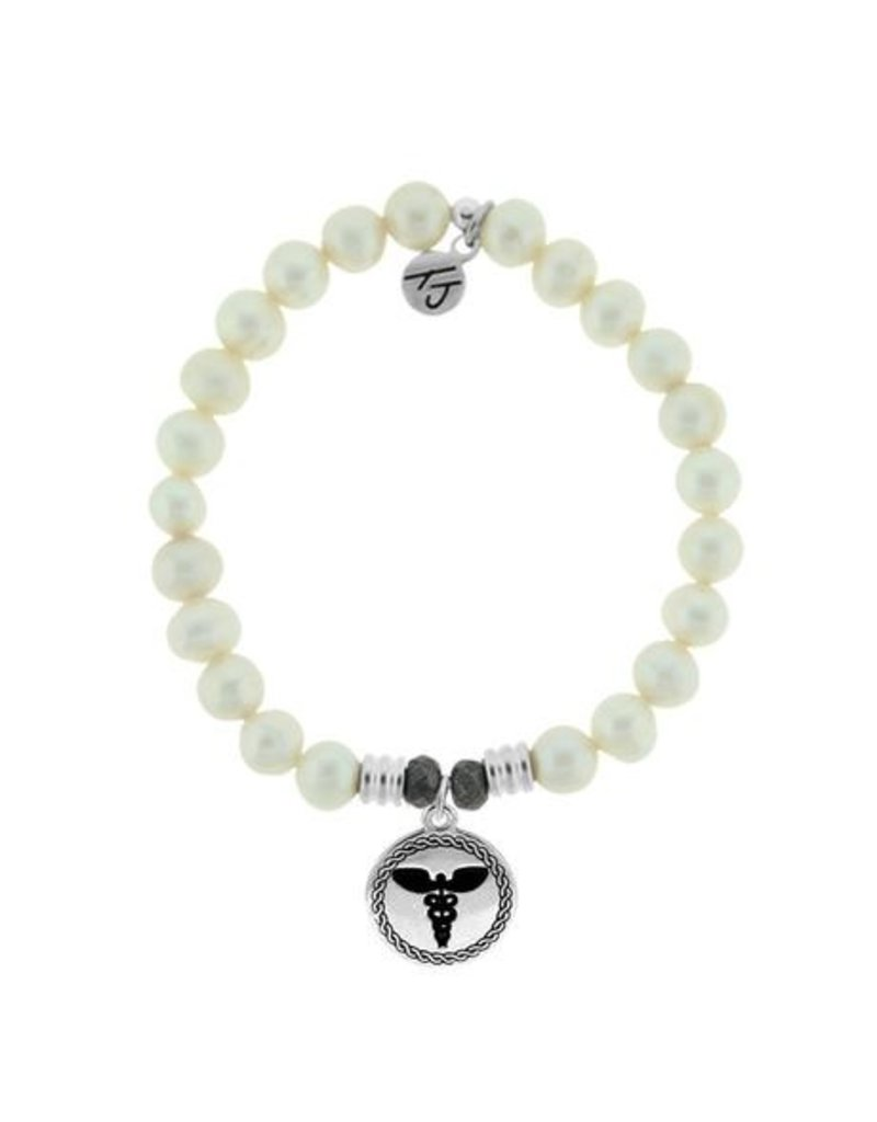 Tiffany Jazelle Core Collection-White Pearl, Caduceus