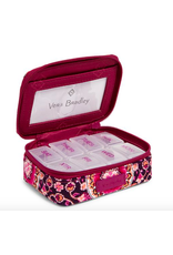 Vera Bradley Iconic Travel Pill Case Raspberry Medallion