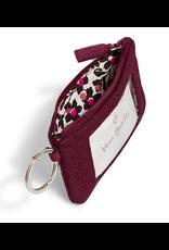Vera Bradley Iconic Zip ID Case Mulled Wine