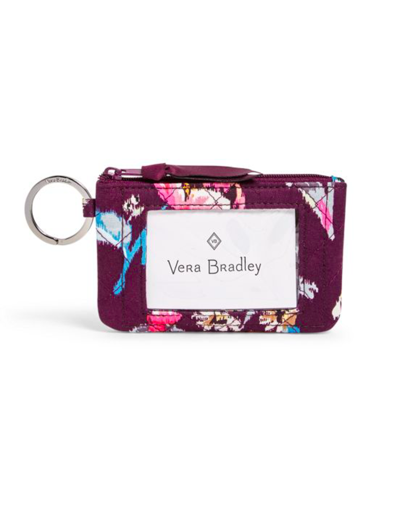 Vera Bradley Iconic Zip ID Case Indiana Rose