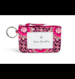 Vera Bradley Iconic Zip ID Case Raspberry Medallion