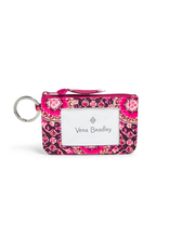 Vera Bradley Iconic Zip ID Case Raspberry Medallion