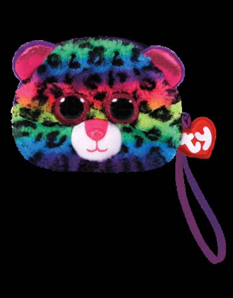 Ty Dotty- Leopard Wristlet