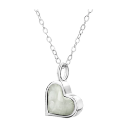 Dune Jewelry Sand Jewel Necklace, Heart, Fire Island