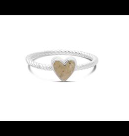 Dune Jewelry Rope Stacker Ring, Heart, Jones Beach - 7