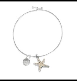 Dune Jewelry Beach Bangle, Delicate Starfish Shape, Fire Island