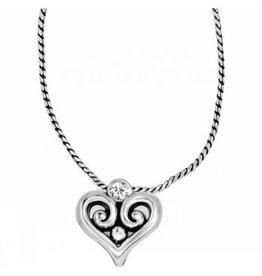 Brighton Alcazar Heart Badge Clip Necklace