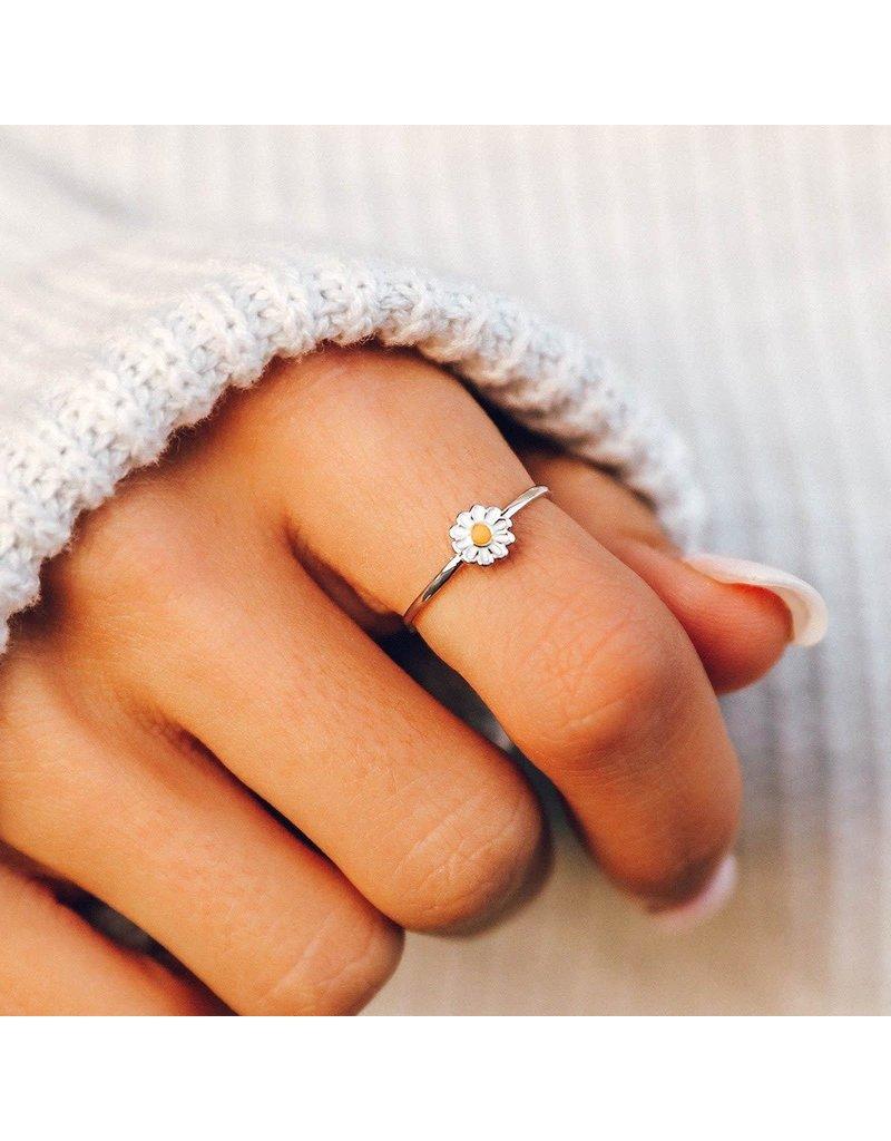 Pura vida daisy enamel ring