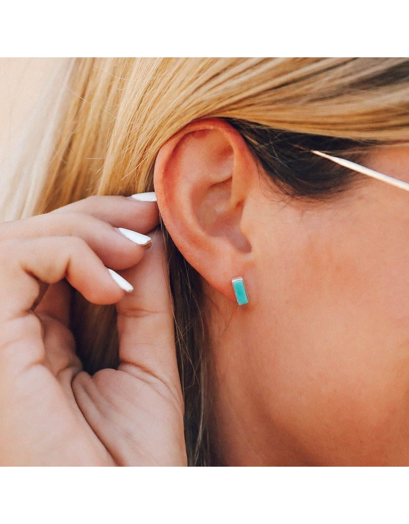 Pura vida turquoise bar earrings