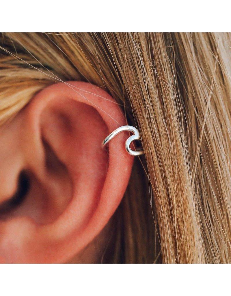 Pura vida wave ear cuff