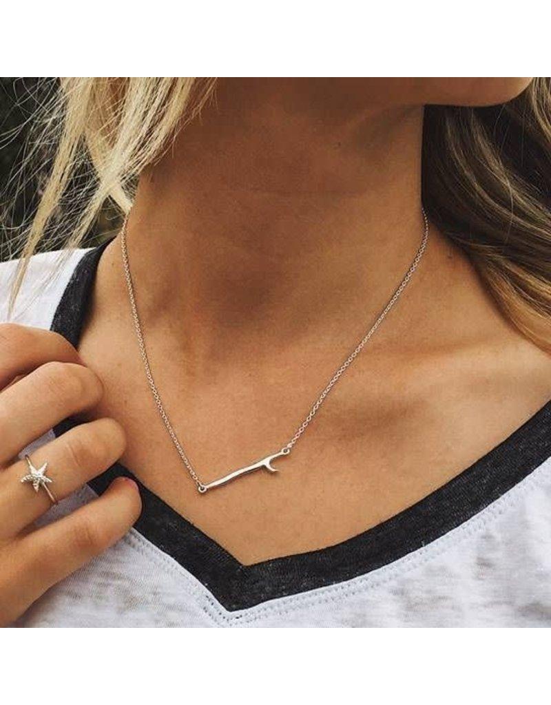 Pura vida Silver Surfboard Necklace