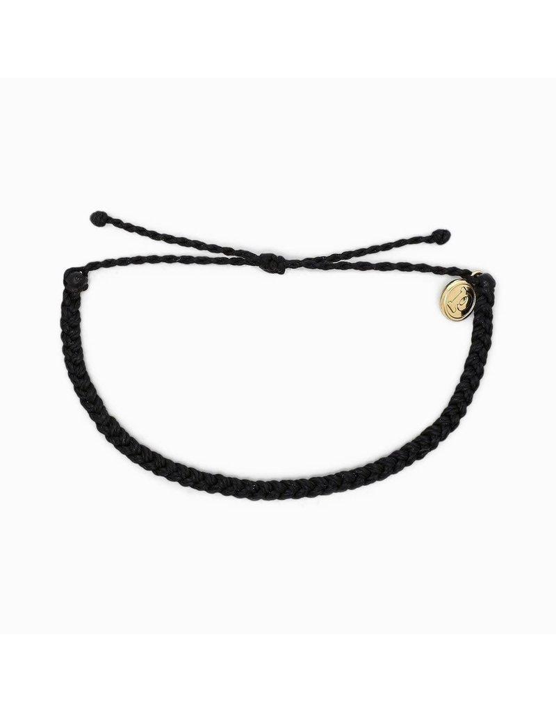 Pura vida Mini Braided Multi Bracelet - Black