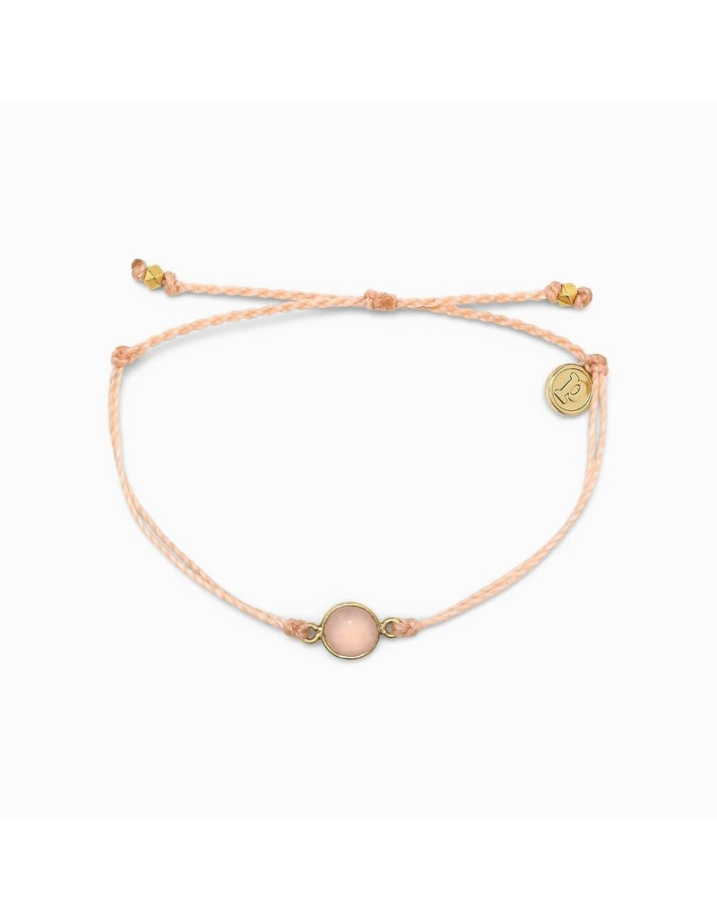 Pura vida Gold Rose Quartz Bracelet