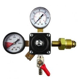 Nitrogen Regulator, 5/16B Shutoff 60# & 3000# Gauges