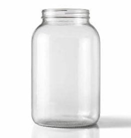 WIDE MOUTH CLEAR ONE GALLON GLASS JUG