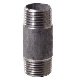 "Stainless Nipple - 1/2"" x 2"" Threaded"