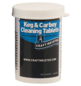 BREWMASTER Craft Meister Keg and Carboy Cleaning Tablets