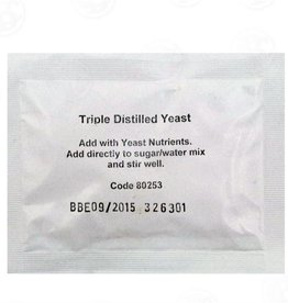 TRIPLE DISTILLED TURBO YEAST - 2 GALLON WASH