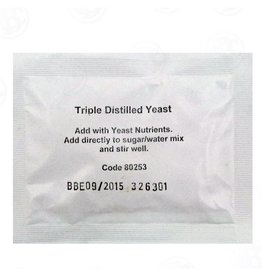 BREWCRAFT TRIPLE DISTILLED TURBO YEAST - 2 GALLON WASH