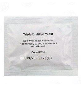 TRIPLE DISTILLED TURBO YEAST - 2 GALLON WASH