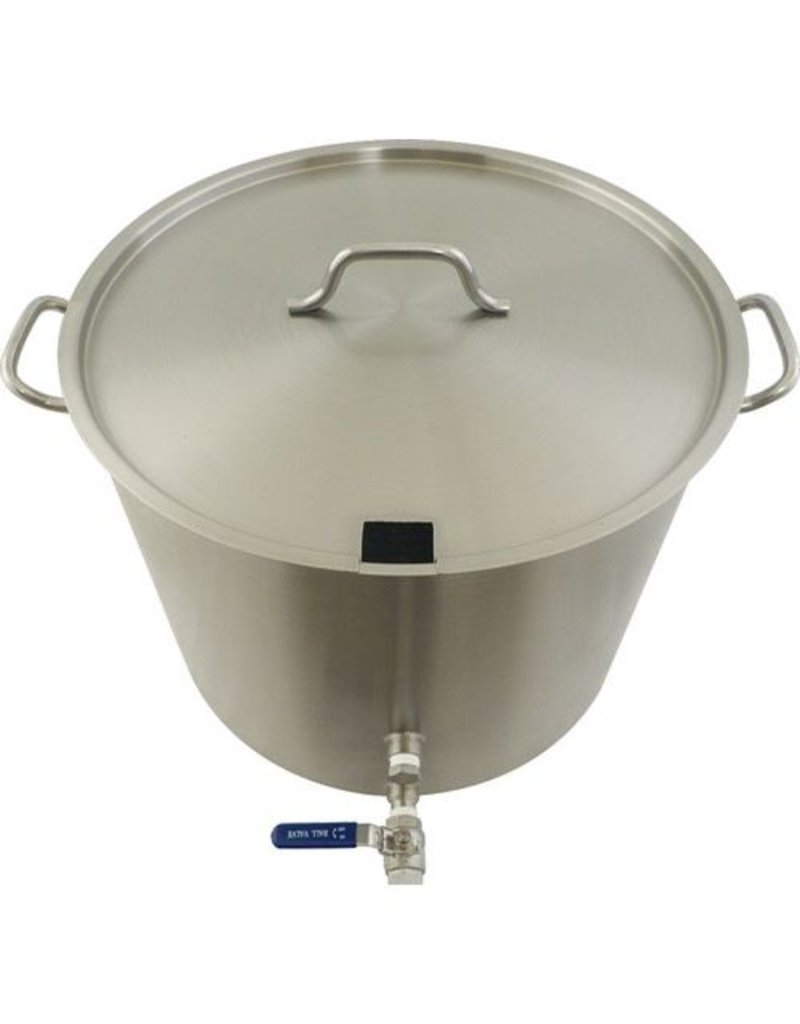 BREWMASTER 15 Gallon Stainless Brew Kettle - Heavy Duty
