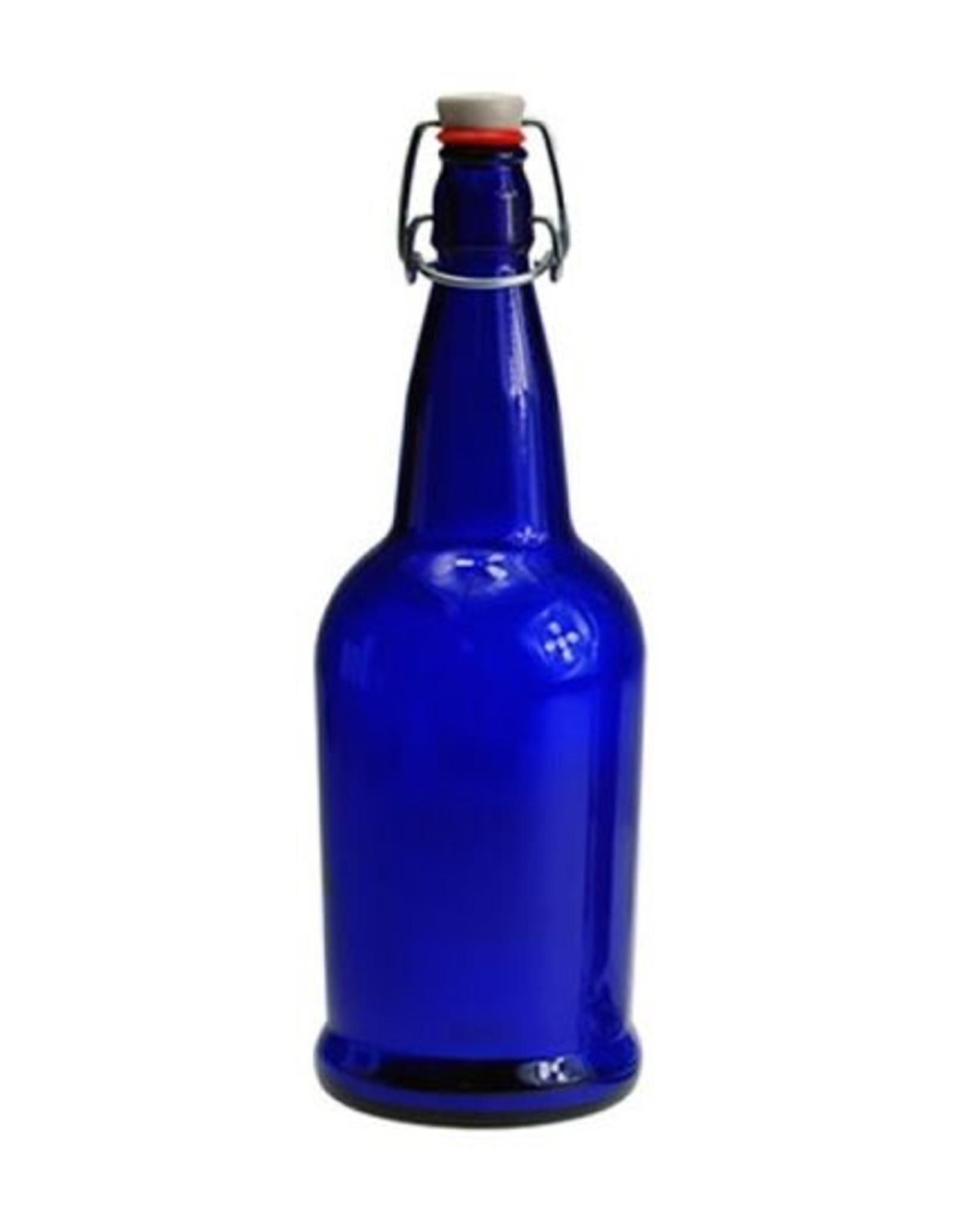 EZ cap EZ-CAP BOTTLES  16 oz. COBALT BLUE (FLIP TOP)