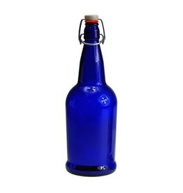 EZ cap EZ-CAP BOTTLES  16 oz. COBALT BLUE (FLIP TOP)