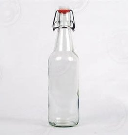 FLIP TOP BOTTLES- 16oz CLEAR