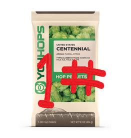 CENTENNIAL HOP PELLETS - 1 lb. package