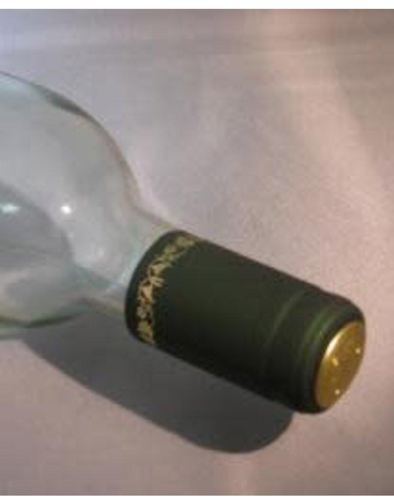 GREEN/GOLD GRAPES PVC SHRINK CAPSULES 30/BAG